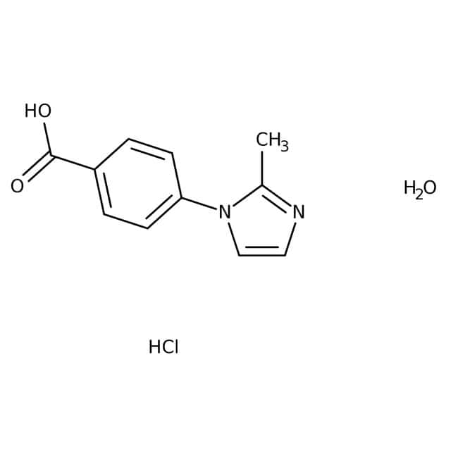 4-(2-Methyl-1H-imidazol-1-yl)benzoic acid hydrochloride hydrate, 95%, Maybridge Amber Glass Bottle; 250mg 4-(2-Methyl-1H-imidazol-1-yl)benzoic acid hydrochloride hydrate, 95%, Maybridge