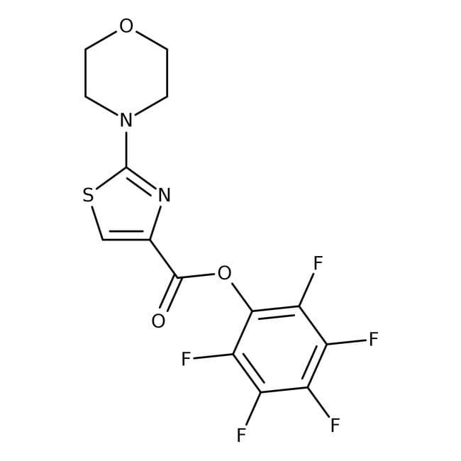 Pentafluorophenyl2-morpholino-1,3-thiazol-4-Karboxylat, 97%, Maybridge Braunglasflasche, 1g Pentafluorophenyl2-morpholino-1,3-thiazol-4-Karboxylat, 97%, Maybridge