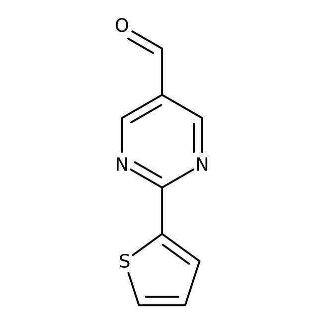 2-Thien-2-ylpyrimidine-5-carbaldehyde, 97%, Maybridge Amber Glass Bottle; 250mg 2-Thien-2-ylpyrimidine-5-carbaldehyde, 97%, Maybridge