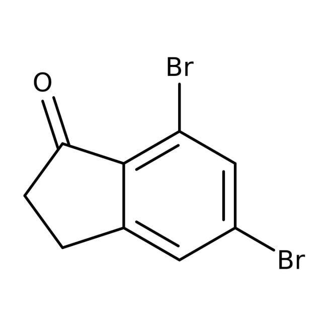 Alfa Aesar™5,7-Dibromo-1-indanone, 97%