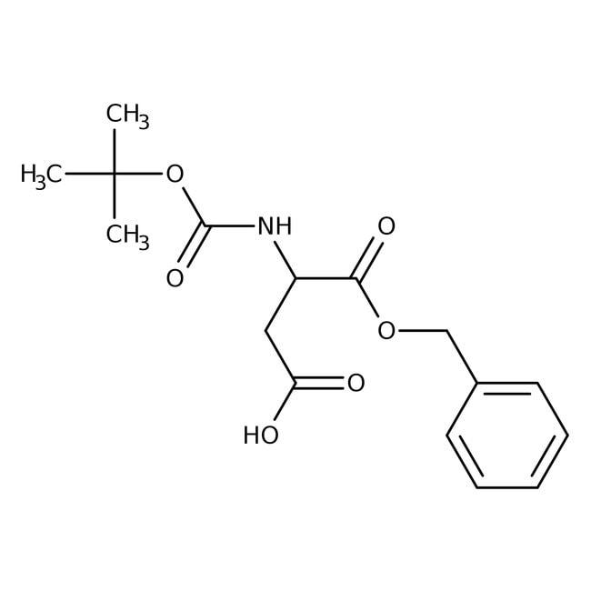 Alfa Aesar™N-Boc-D-aspartic acid 1-benzyl ester, 98%