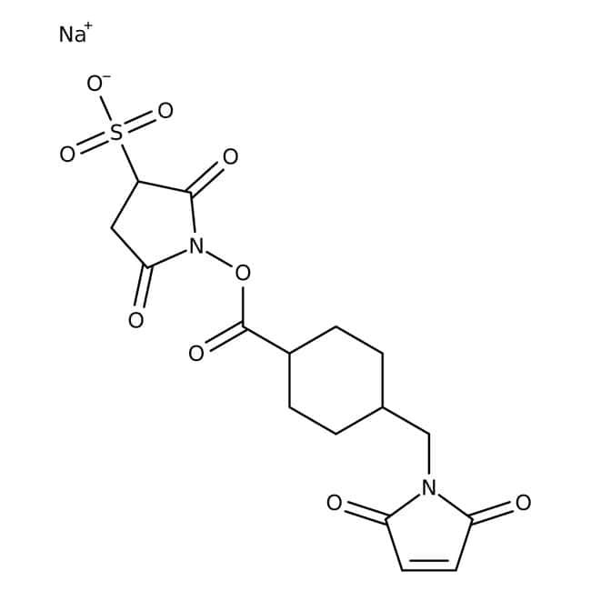 Alfa Aesar™ 3-Sulfo-N-succinimidyl 4-(maleimidomethyl)cyclohexane-1-carboxylate sodium salt, 97+%