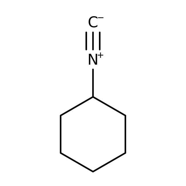 Isocyanure de cyclohexyle, 99%, ACROSOrganics™ 25g; flacon en verre Isocyanure de cyclohexyle, 99%, ACROSOrganics™