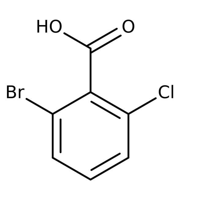Alfa Aesar™2-Brom-6-chlorbenzoesäure, 98% 5g Alfa Aesar™2-Brom-6-chlorbenzoesäure, 98%