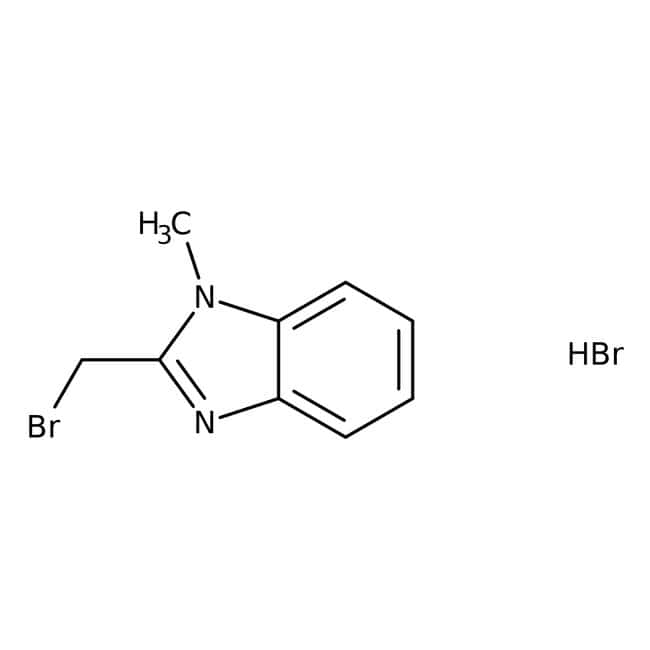 2-(Bromomethyl)-1-methyl-1H-benzimidazole hydrobromide, 97%, Maybridge™ Amber Glass Bottle; 250mg 2-(Bromomethyl)-1-methyl-1H-benzimidazole hydrobromide, 97%, Maybridge™