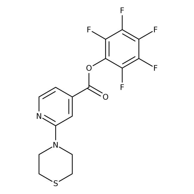 Pentafluorophenyl 2-thiomorpholin-4-ylisonicotinate, 97%, Maybridge™ Amber Glass Bottle; 250mg Pentafluorophenyl 2-thiomorpholin-4-ylisonicotinate, 97%, Maybridge™