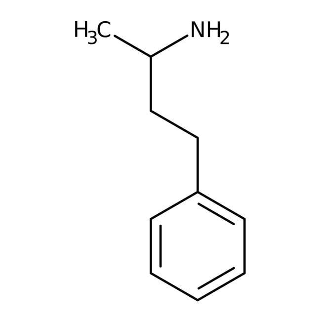 (R)-(-)-1-Methyl-3-phenylpropylamine, 98%, ACROS Organics™ 5g; Glass bottle (R)-(-)-1-Methyl-3-phenylpropylamine, 98%, ACROS Organics™
