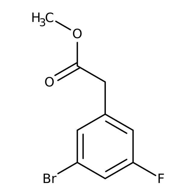 Alfa Aesar™Methyl 3-bromo-5-fluorophenylacetate, 96% 250mg Alfa Aesar™Methyl 3-bromo-5-fluorophenylacetate, 96%