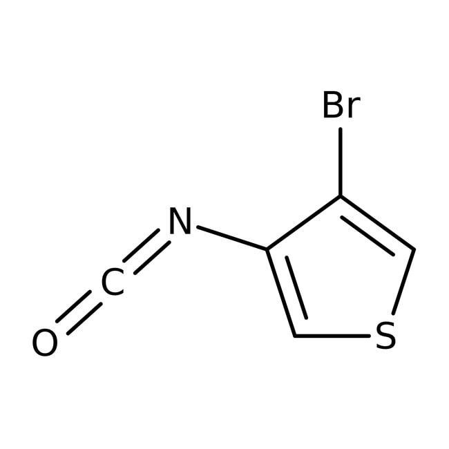 3-Bromo-4-isocyanatothiophene, 95%, Maybridge Amber Glass Bottle; 1g 3-Bromo-4-isocyanatothiophene, 95%, Maybridge