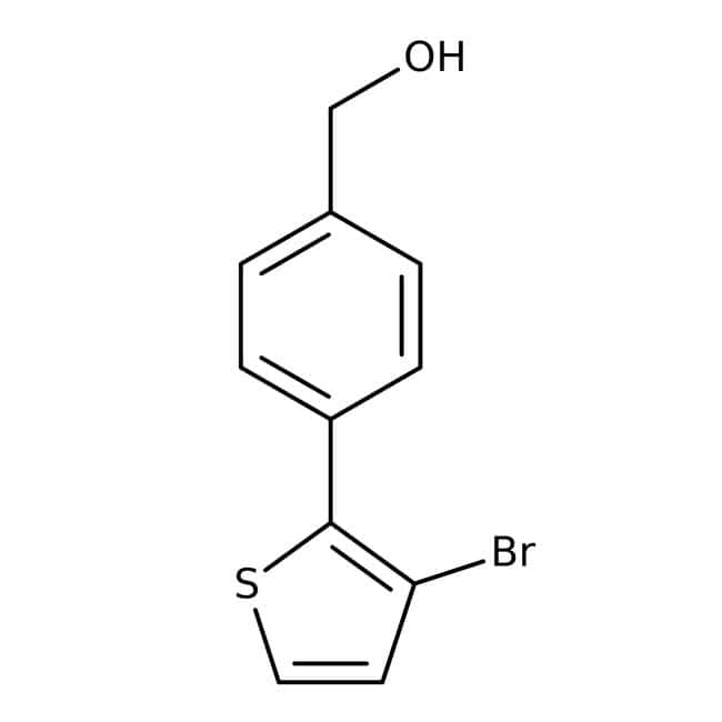 [4-(3-Bromothien-2-yl)phenyl]methanol, 97%, Maybridge™ Amber Glass Bottle; 5g [4-(3-Bromothien-2-yl)phenyl]methanol, 97%, Maybridge™