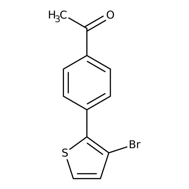 1-[4-(3-Bromothien-2-yl)phenyl]ethanone, 97%, Maybridge Amber Glass Bottle; 1g 1-[4-(3-Bromothien-2-yl)phenyl]ethanone, 97%, Maybridge