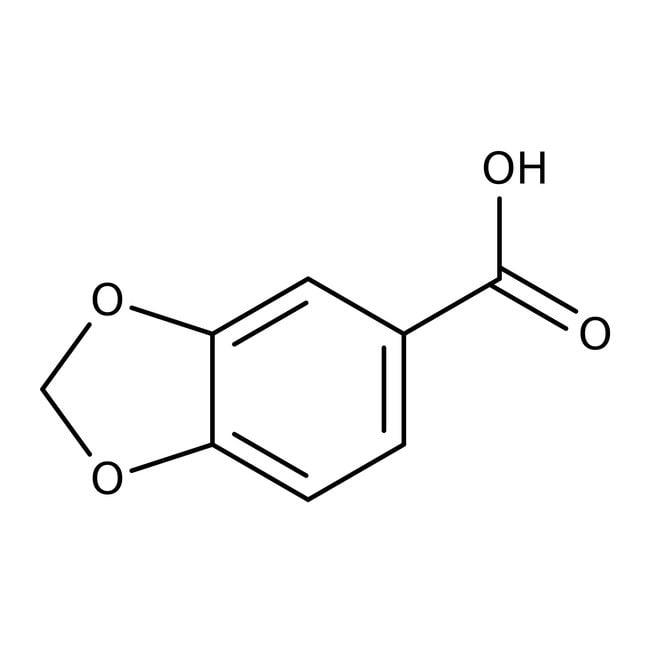 Piperonylic acid, 99%, ACROS Organics™ 100g Piperonylic acid, 99%, ACROS Organics™