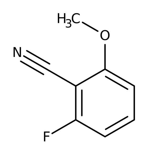 Alfa Aesar™2-Fluoro-6-methoxybenzonitrile, 98% 1g Alfa Aesar™2-Fluoro-6-methoxybenzonitrile, 98%
