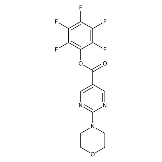 Pentafluorophenyl 2-morpholin-4-ylpyrimidine-5-carboxylate, 97%, Maybridge Amber Glass Bottle; 1g Pentafluorophenyl 2-morpholin-4-ylpyrimidine-5-carboxylate, 97%, Maybridge