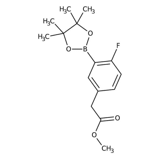 Alfa Aesar™2-Fluoro-5-(methoxycarbonylmethyl)benzeneboronic acid pinacol ester, 96% 1g Alfa Aesar™2-Fluoro-5-(methoxycarbonylmethyl)benzeneboronic acid pinacol ester, 96%