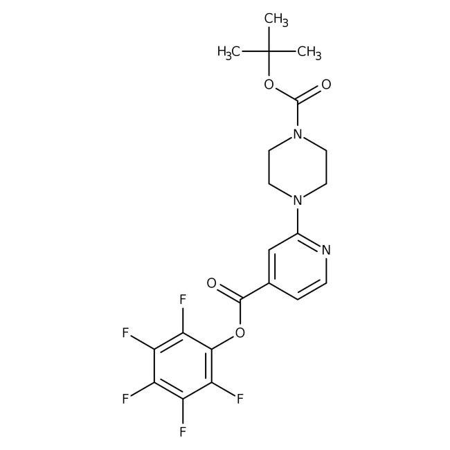 Pentafluorophenyl 2-[4-(tert-butoxycarbonyl)piperazin-1-yl]isonicotinate, 90%, Maybridge™ Amber Glass Bottle; 1g prodotti trovati