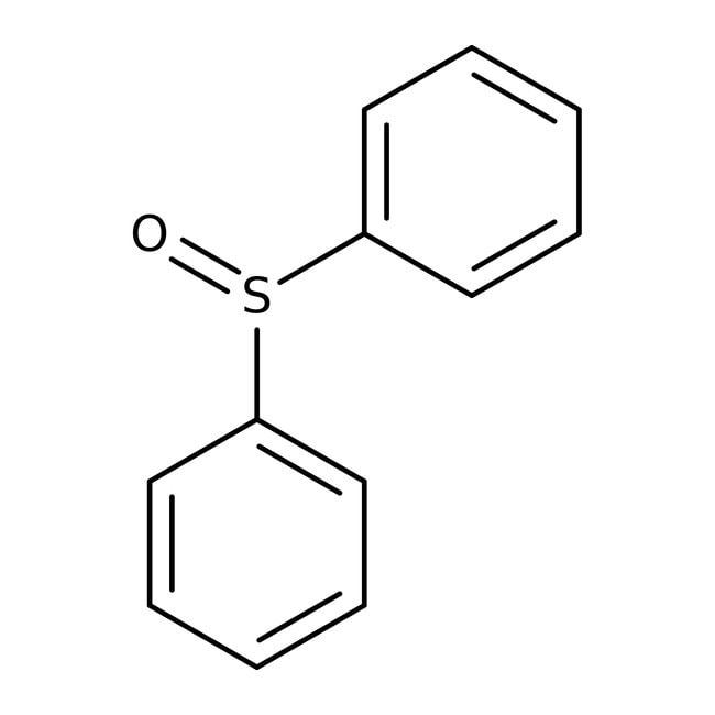 Phenyl sulfoxide, 97%, Acros Organics 25g; Glass bottle Phenyl sulfoxide, 97%, Acros Organics