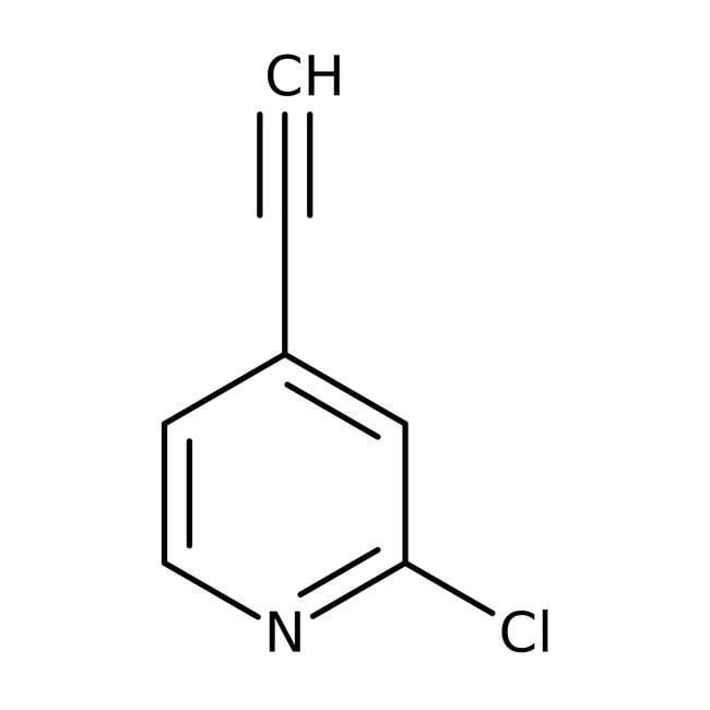 2-Chloro-4-ethynylpyridine, 97%, ACROS Organics™ 1g 2-Chloro-4-ethynylpyridine, 97%, ACROS Organics™