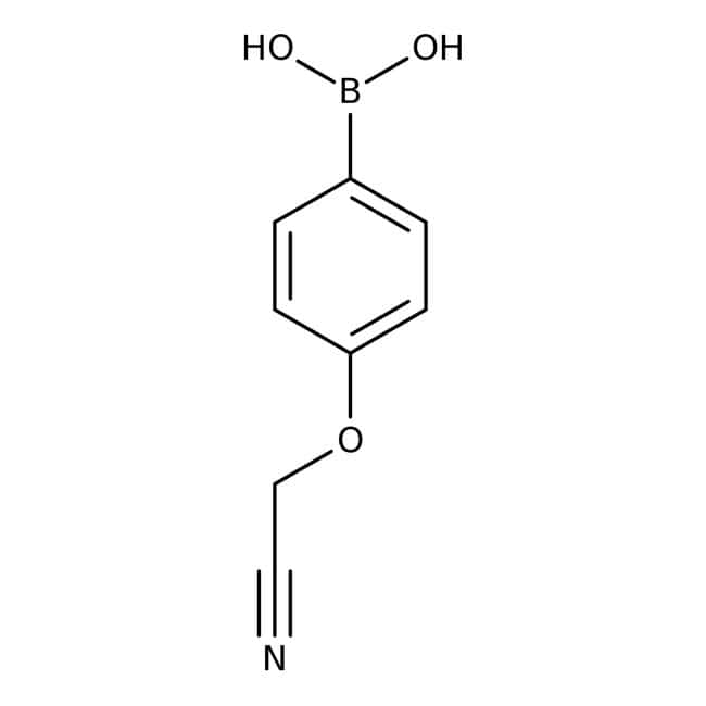 4-(Cyanomethoxy)phenylboronic acid, 97%, ACROS Organics™ 5g 4-(Cyanomethoxy)phenylboronic acid, 97%, ACROS Organics™