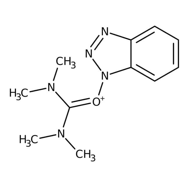 O-(Benzotriazol-1-yl)-N,N,N',N'-tetramethyluronium hexafluorophosphate, 98%, ACROS Organics™ 1g, Glass bottle O-(Benzotriazol-1-yl)-N,N,N',N'-tetramethyluronium hexafluorophosphate, 98%, ACROS Organics™