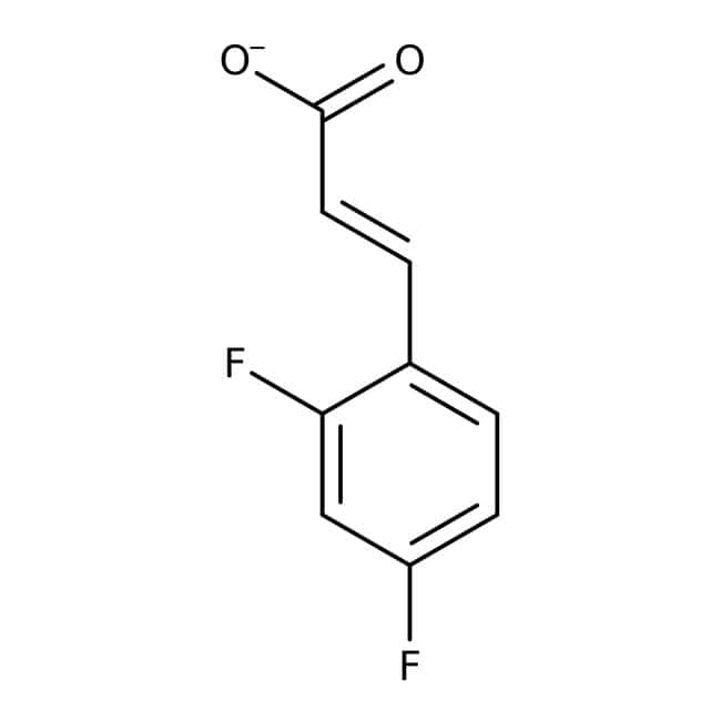 Alfa Aesar™Ácido trans-2,4-difluorocinámico, 97% 25g Alfa Aesar™Ácido trans-2,4-difluorocinámico, 97%