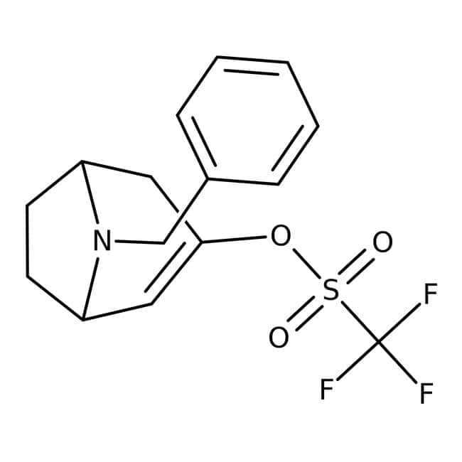 8-Benzyl-3-(trifluoromethylsulfonyloxy)-8-azabicyclo[3.2.1]oct-3-ene, 95%, ACROS Organics™