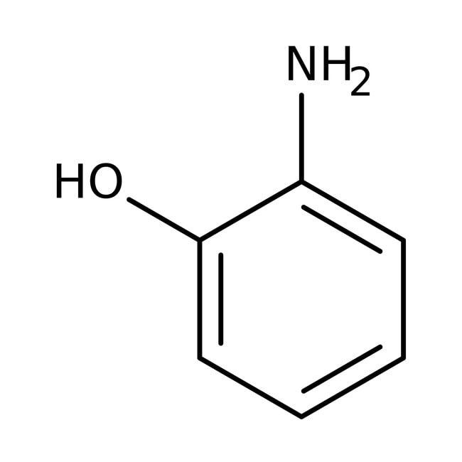 2-aminophénol, 99%, AcrosOrganics 500g; flacon en verre 2-aminophénol, 99%, AcrosOrganics