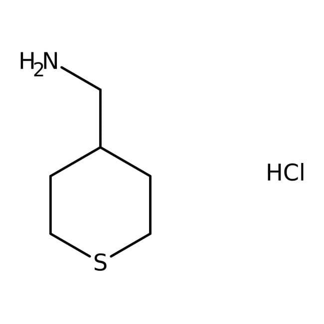 Tetrahydrothiopyran-4-ylmethylamine hydrochloride, 97%, Maybridge™ Amber Glass Bottle; 250mg Tetrahydrothiopyran-4-ylmethylamine hydrochloride, 97%, Maybridge™