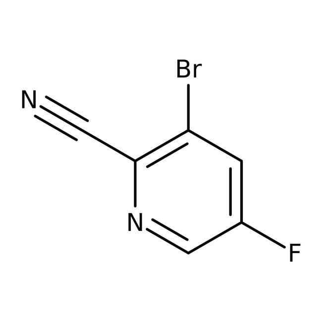 3-Bromo-5-fluoro-2-cyanopyridine, 97%, ACROS Organics™
