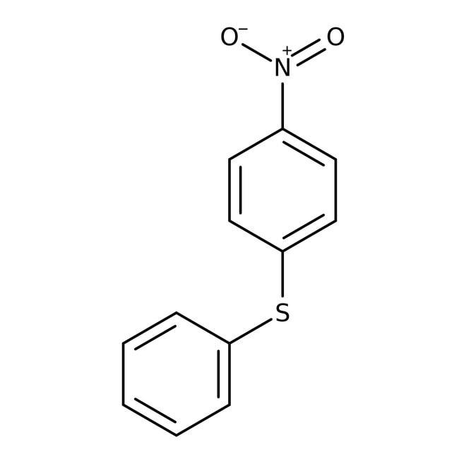 Alfa Aesar™Sulfuro de fenilo 4-nitrofenil, 98 % 25g Alfa Aesar™Sulfuro de fenilo 4-nitrofenil, 98 %