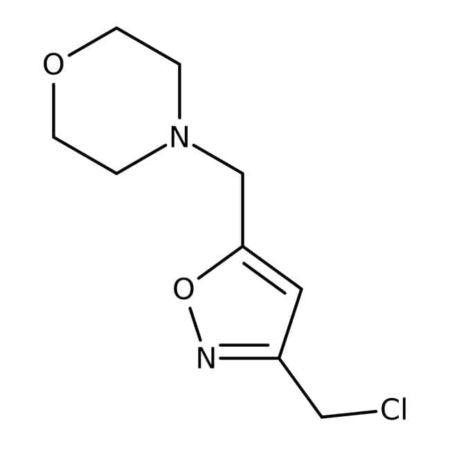 4-{[3-(chloromethyl)isoxazol-5-yl]methyl}morpholine, Tech., Maybridge™
