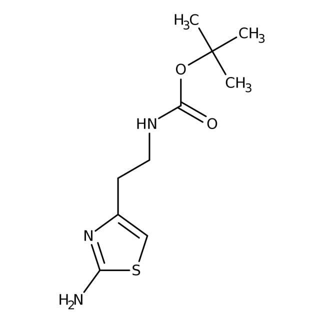 2-Amino-4-[2-(Boc-amino)ethyl]thiazole, 97%, Alfa Aesar™ 1g 2-Amino-4-[2-(Boc-amino)ethyl]thiazole, 97%, Alfa Aesar™