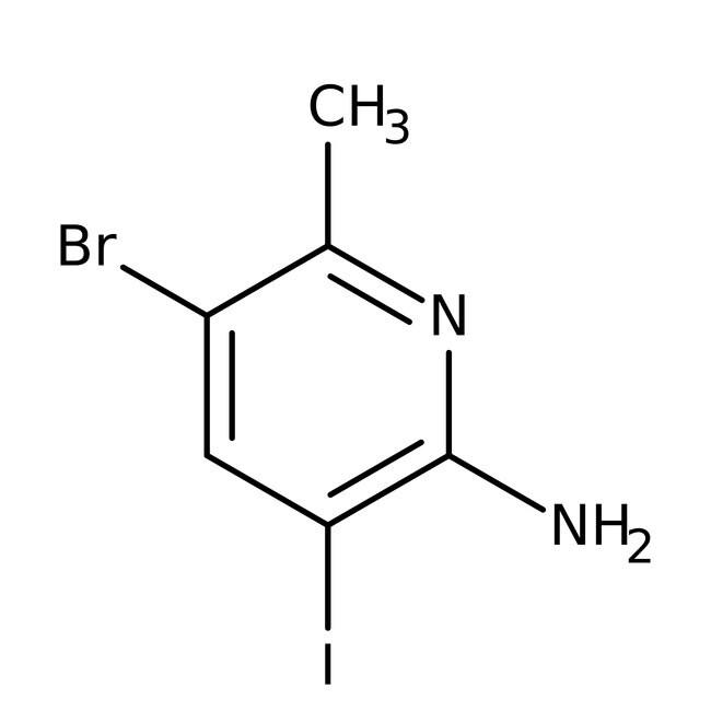 Alfa Aesar™2-Amino-5-bromo-3-iodo-6-methylpyridine, 95% 250mg Alfa Aesar™2-Amino-5-bromo-3-iodo-6-methylpyridine, 95%