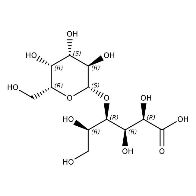 Lactobionic acid, 97%, ACROS Organics™ 25g; Plastic bottle Lactobionic acid, 97%, ACROS Organics™