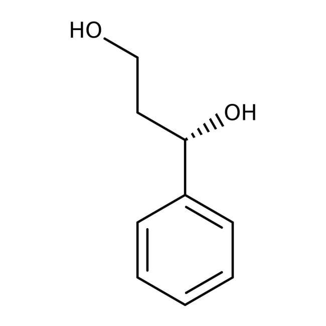 (S)-1-Phenyl-1,3-propanediol, 98%, ACROS Organics™ 1g; Glass bottle (S)-1-Phenyl-1,3-propanediol, 98%, ACROS Organics™