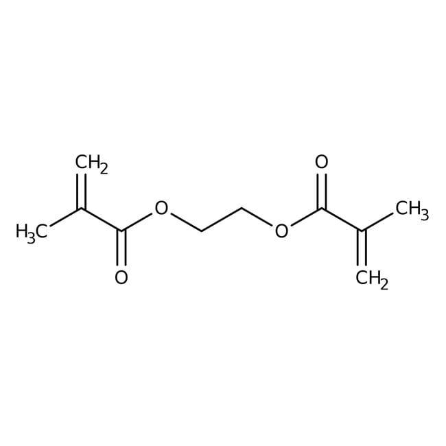 Alfa Aesar™Ethylene glycol dimethacrylate, 98%, stab. with 100ppm 4-methoxyphenol