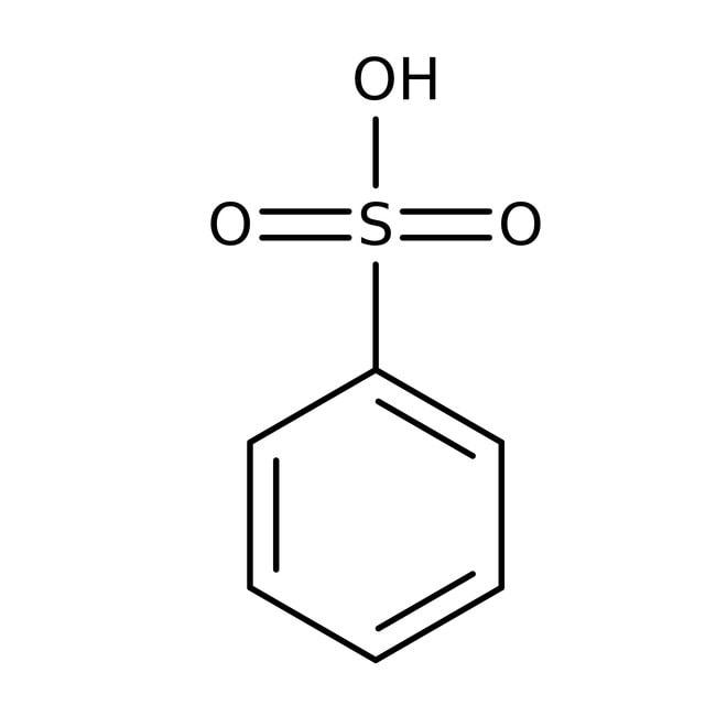 Benzenesulfonic acid, 90%, technical, ACROS Organics™ 25g; Glass bottle Benzenesulfonic acid, 90%, technical, ACROS Organics™