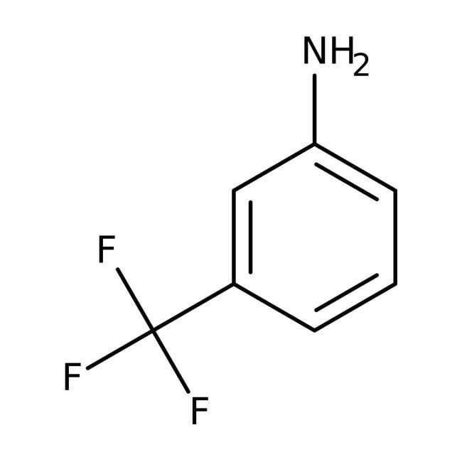 3-Aminobenzotrifluoride, 98%, ACROS Organics™ 2.5L; Glass bottle 3-Aminobenzotrifluoride, 98%, ACROS Organics™