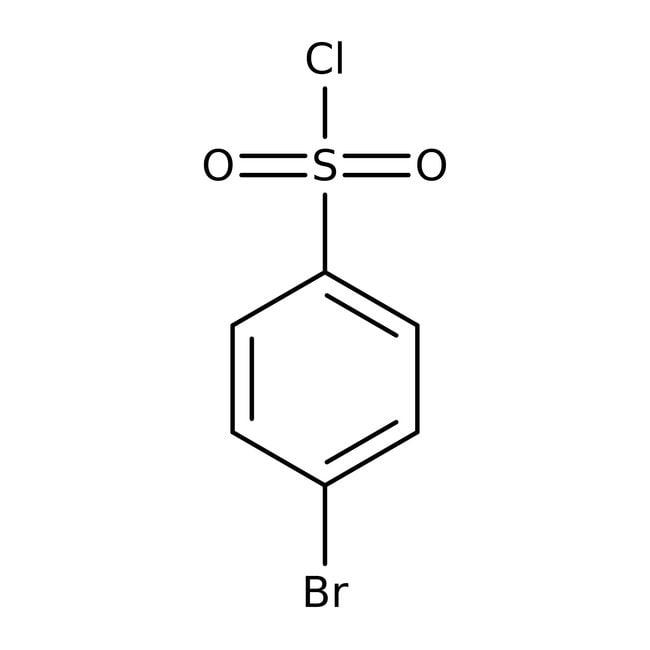 4-Bromobenzenesulfonyl chloride, 98%, Acros Organics 100g; Glass bottle 4-Bromobenzenesulfonyl chloride, 98%, Acros Organics