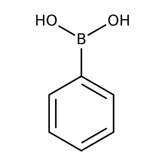 Phenylboronic acid, 98+%, may contain varying amounts of anhydride, Acros Organics 10g Phenylboronic acid, 98+%, may contain varying amounts of anhydride, Acros Organics