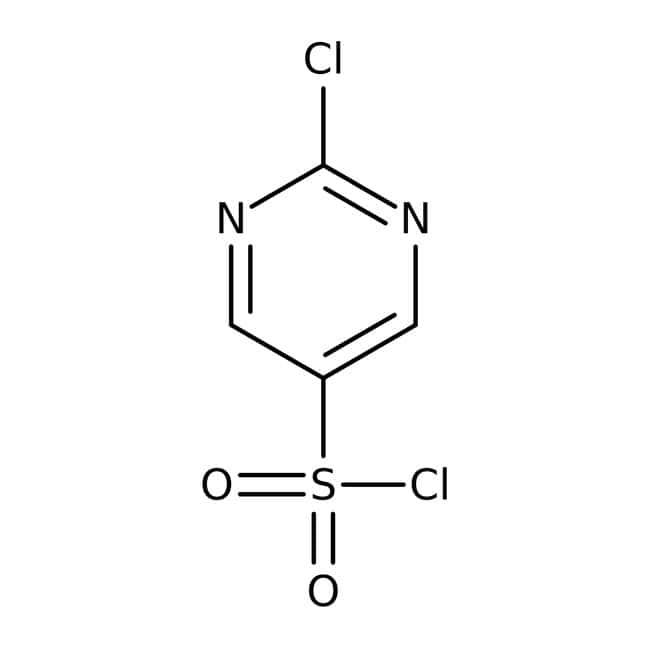 2-chloropyrimidine-5-sulfonyl chloride, 97%, ACROS Organics™ 1g; Glass bottle 2-chloropyrimidine-5-sulfonyl chloride, 97%, ACROS Organics™