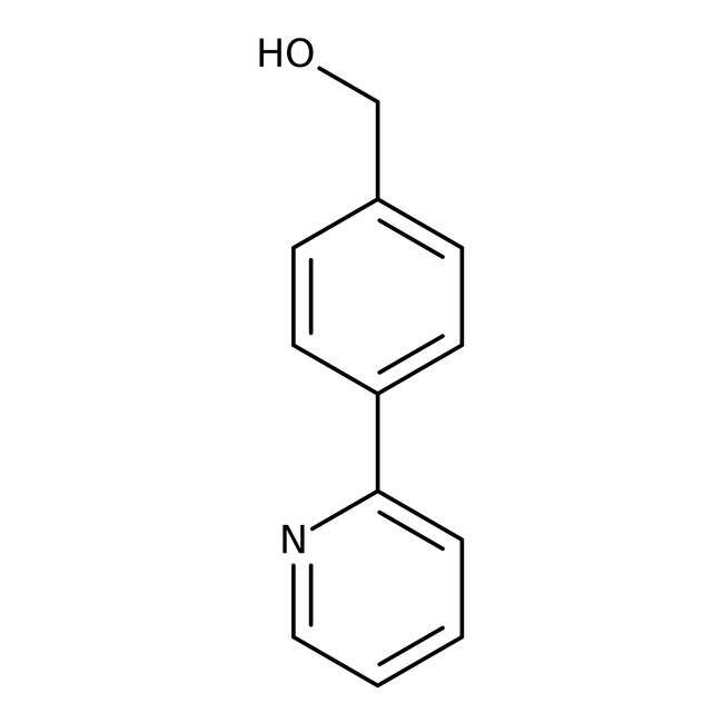 (4-Pyrid-2-ylphenyl)methanol, ≥97%, Maybridge™ Amber Glass Bottle; 1g (4-Pyrid-2-ylphenyl)methanol, ≥97%, Maybridge™