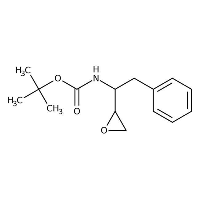 (2S,3S)-3-(N-BOC-amino)-1-oxirane-4-phenylbutane, 98%, ACROS Organics™ 1g; Glass bottle (2S,3S)-3-(N-BOC-amino)-1-oxirane-4-phenylbutane, 98%, ACROS Organics™
