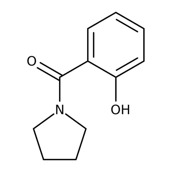 Alfa Aesar™N-(2-Hydroxybenzoyl)pyrrolidine, 97% 5g Alfa Aesar™N-(2-Hydroxybenzoyl)pyrrolidine, 97%
