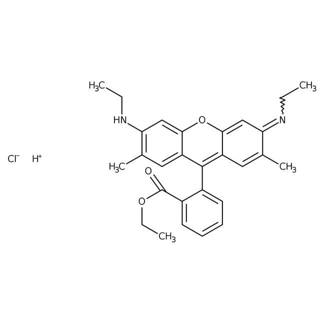 Rhodamine 6G 99%, ACROS Organics™ 25g; Glass bottle Rhodamine 6G 99%, ACROS Organics™