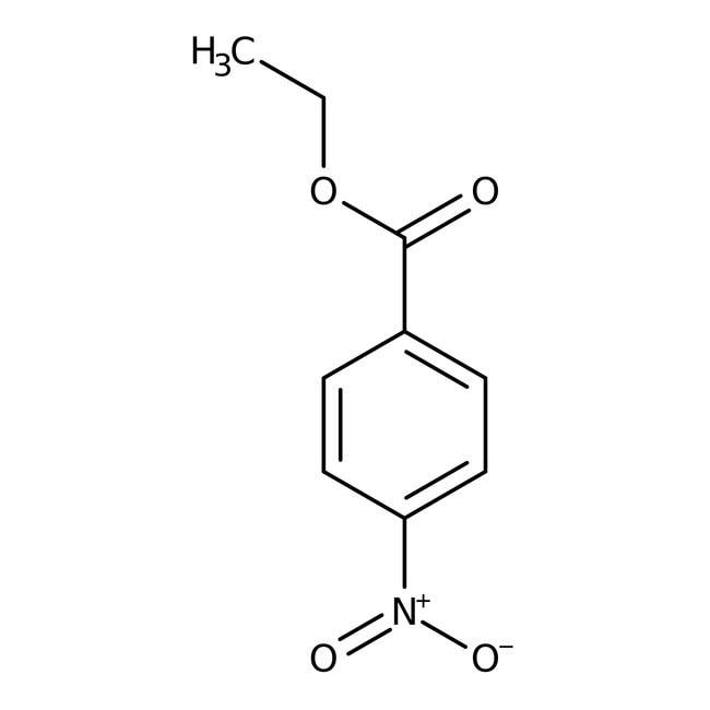 Ethyl 4-nitrobenzoate, 99%, ACROS Organics™ 100g; Glass bottle Ethyl 4-nitrobenzoate, 99%, ACROS Organics™