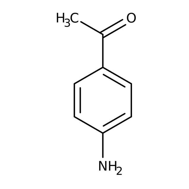 4'-Aminoacetophenone, 99%, ACROS Organics™ 10g; Glass bottle 4'-Aminoacetophenone, 99%, ACROS Organics™