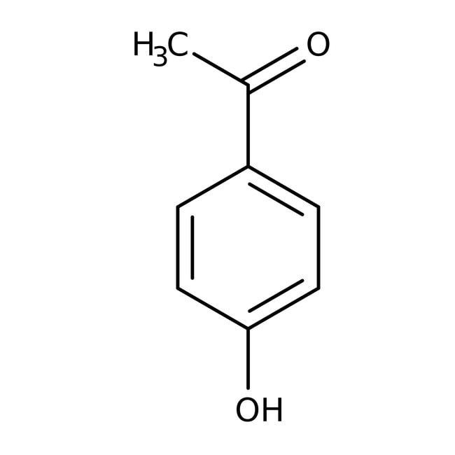 4'-Hydroxyacetophenone, 98%, Acros Organics 5g; Glass bottle 4'-Hydroxyacetophenone, 98%, Acros Organics