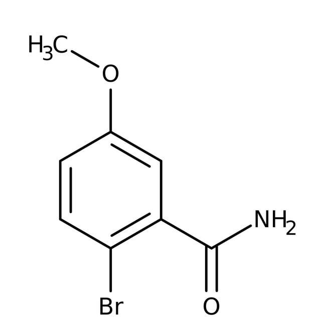 Alfa Aesar™2-Bromo-5-méthoxybenzamide 98% 5g Alfa Aesar™2-Bromo-5-méthoxybenzamide 98%