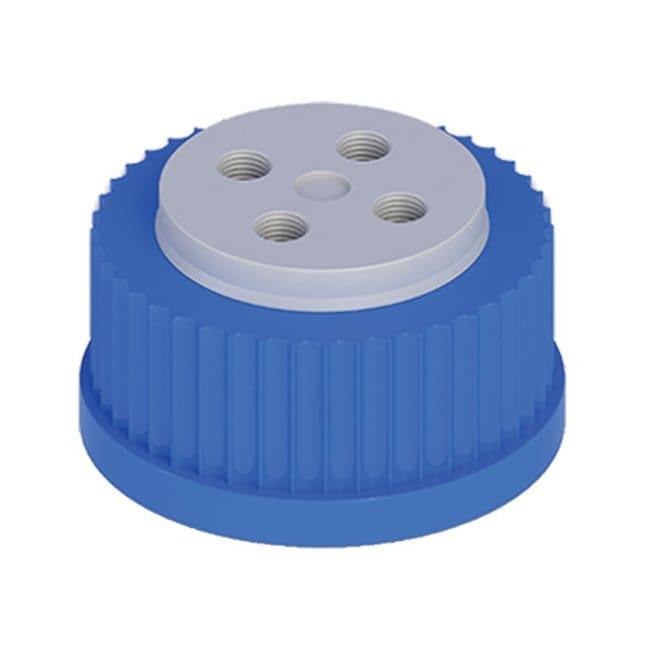 Cole-Parmer™VapLock™ Lösungsmittelverschlüsse mit Einlassventil und Filter Viton Lufteinlassventil, vier 1/4Zoll-28-Anschlüsse, GL45; 1Stück Cole-Parmer™VapLock™ Lösungsmittelverschlüsse mit Einlassventil und Filter